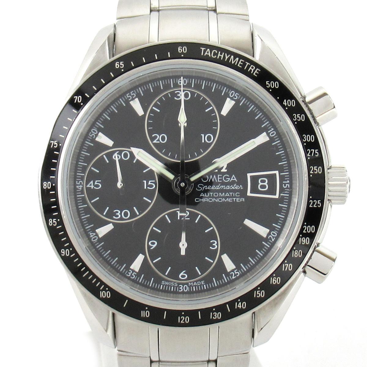 ≪期間限定≫メルマガ登録でクーポンGET! 【中古】 オメガ スピードマスター デイト ウォッチ 腕時計 メンズ ステンレススチール (SS) (3210.50) | OMEGA BRANDOFF ブランドオフ ブランド ブランド時計 ブランド腕時計 時計