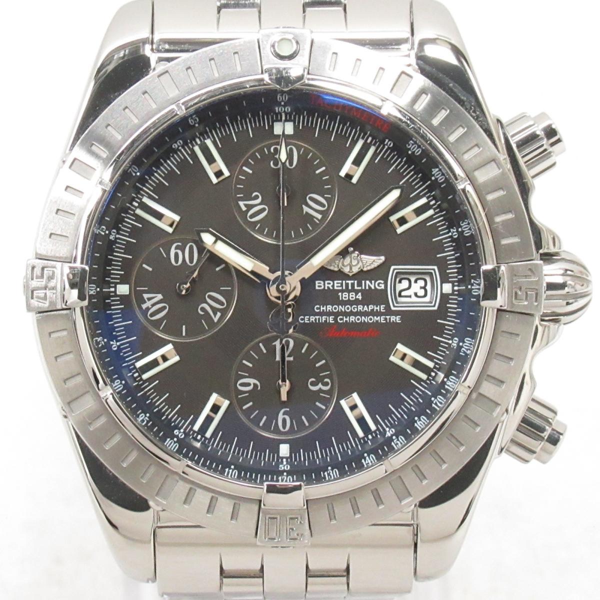≪期間限定≫メルマガ登録でクーポンGET! 【中古】 ブライトリング クロノマット・エボリューション 腕時計 ウォッチ メンズ ステンレススチール (SS) (A13356) | BREITLING BRANDOFF ブランドオフ ブランド ブランド時計 ブランド腕時計 時計