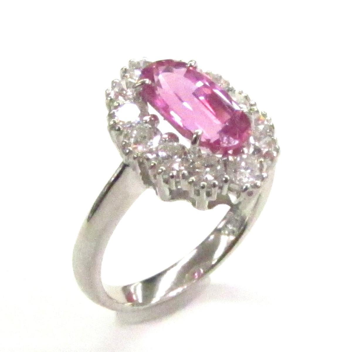 【中古】 ジュエリー ピンクサファイアリング レディース PT900 プラチナ x ピンクサファイア (2.20ct) ダイヤモンド (0.86ct)   JEWELRY BRANDOFF ブランドオフ ブランド アクセサリー 指輪 リング
