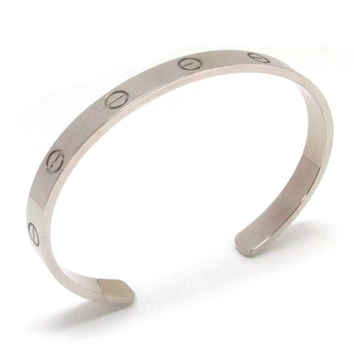 【中古】 カルティエ ラブブレス ブレスレット オープン バングル レディース K18WG (750) ホワイトゴールド   Cartier BRANDOFF ブランドオフ ブランド アクセサリー 腕輪