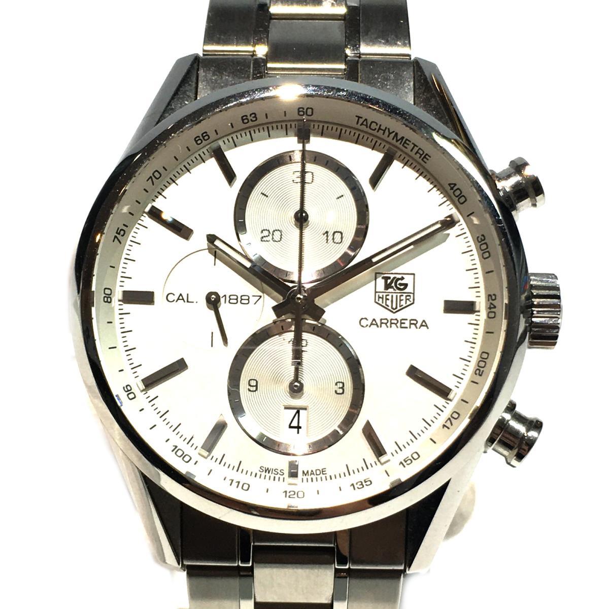 【激安大特価!】 【】 タグ・ホイヤー カレラ1887 クロノ・タキメーター 腕時計 ウォッチ メンズ ステンレススチール (SS) シルバー (CAR2111.BA0720) | TAG HEUER BRANDOFF ブランドオフ ブランド ブランド時計 ブランド腕時計 時計, 高松市 0a93e056