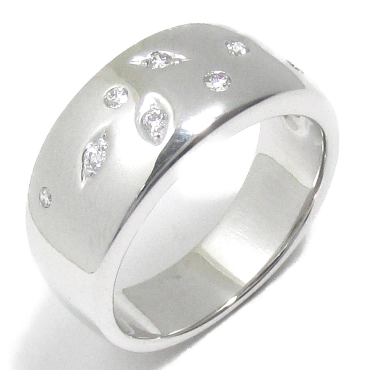 【中古】 タサキ ダイヤモンド リング 指輪 レディース K18WG (750) ホワイトゴールド x (0.09ct) クリアー シルバー | TASAKI BRANDOFF ブランドオフ ブランド ジュエリー アクセサリー