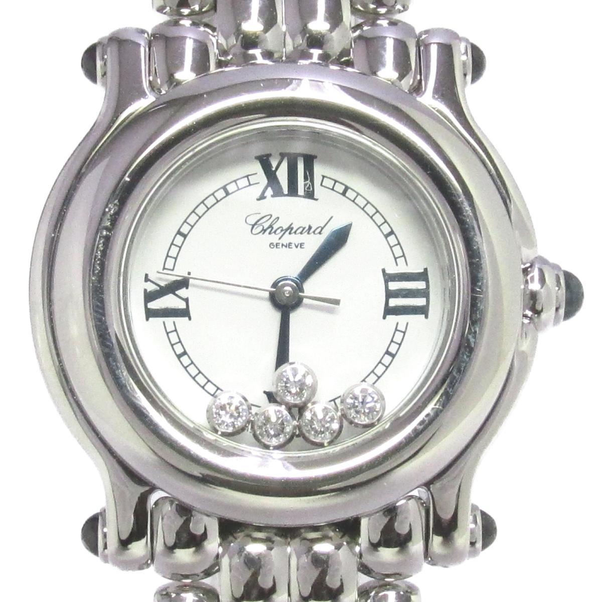 【中古】 ショパール ハッピースポーツ 5Pダイヤモンド 腕時計 レディース ステンレススチール (SS) ダイヤモンド ホワイト (27/8250-23) | Chopard BRANDOFF ブランドオフ ブランド ブランド時計 ブランド腕時計 時計