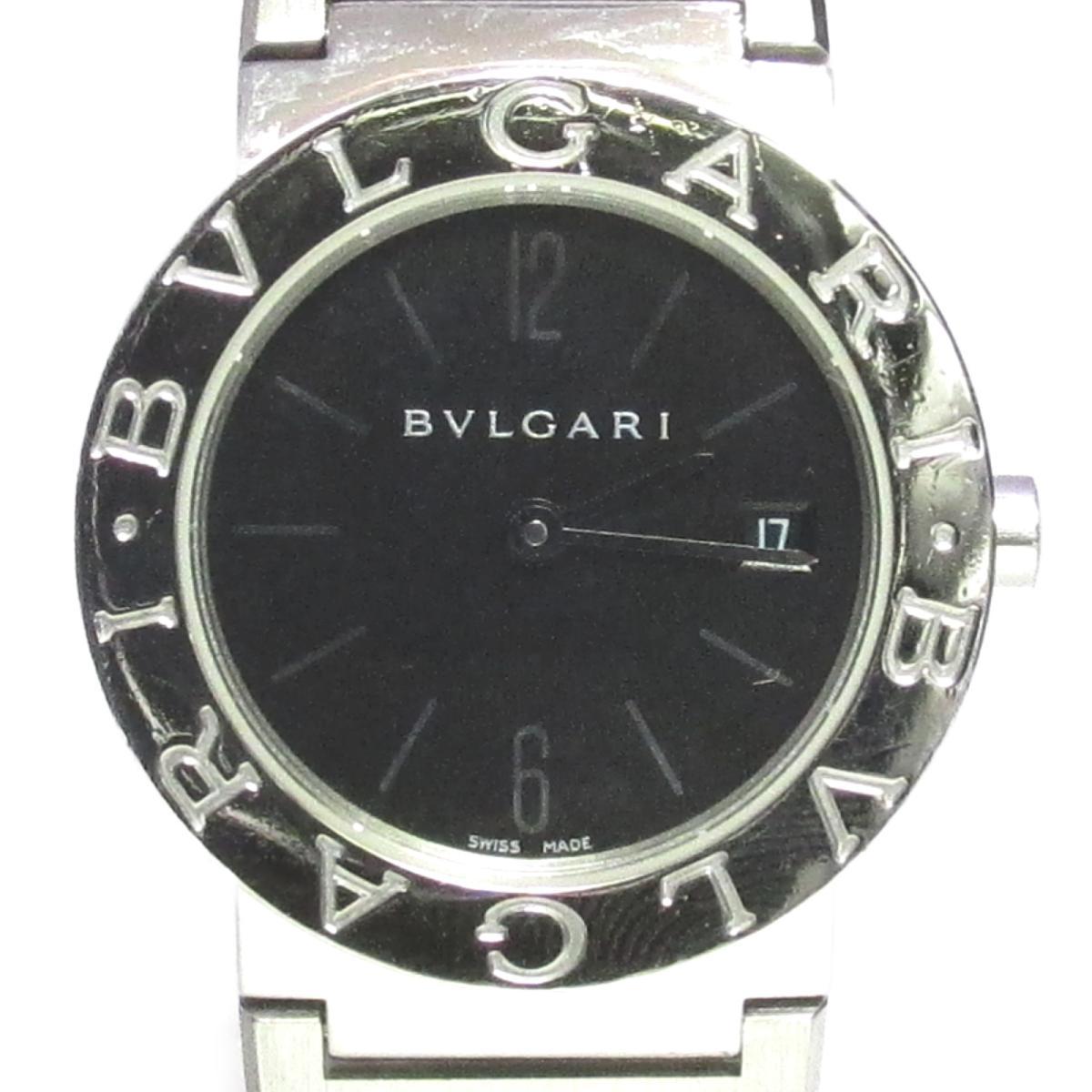 【中古】 ブルガリ 腕時計 ウォッチ レディース ステンレススチール (SS) ブラック (BB26SS) | BVLGARI BRANDOFF ブランドオフ ブランド ブランド時計 ブランド腕時計 時計