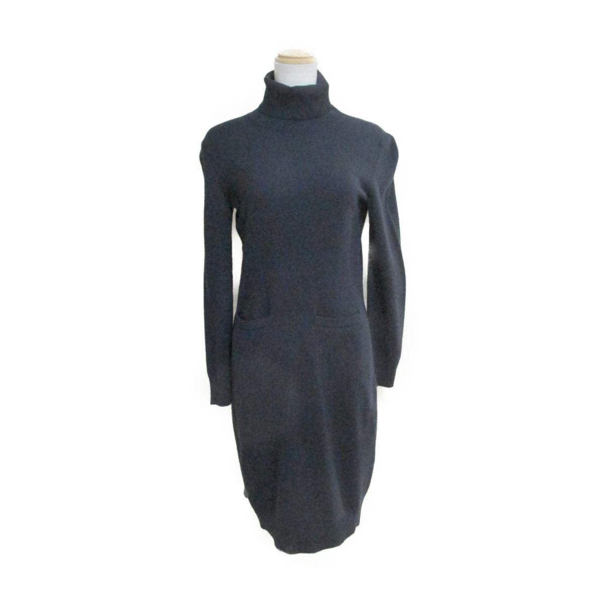 【中古】 エルメス タートルニット ワンピース レディース ウール (80%) シルク (20%) ネイビー | HERMES BRANDOFF ブランドオフ 衣料品 衣類 ブランド