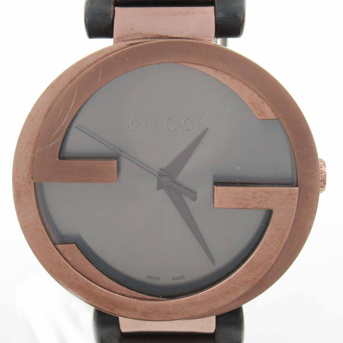 ≪期間限定≫メルマガ登録でクーポンGET! 【中古】 グッチ 時計 ウォッチ 腕時計 メンズ ステンレススチール (SS) レザーベルト (133.2) | GUCCI BRANDOFF ブランドオフ ブランド ブランド時計 ブランド腕時計