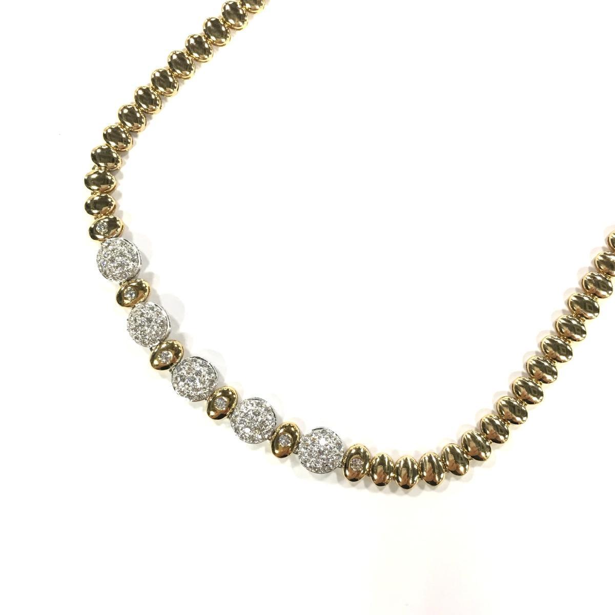【中古】 ジュエリー ダイヤモンド ネックレス レディース K18YG (750) イエローゴールド x ダイヤモンド1.76ct ゴールド | JEWELRY BRANDOFF ブランドオフ ブランド アクセサリー ペンダント
