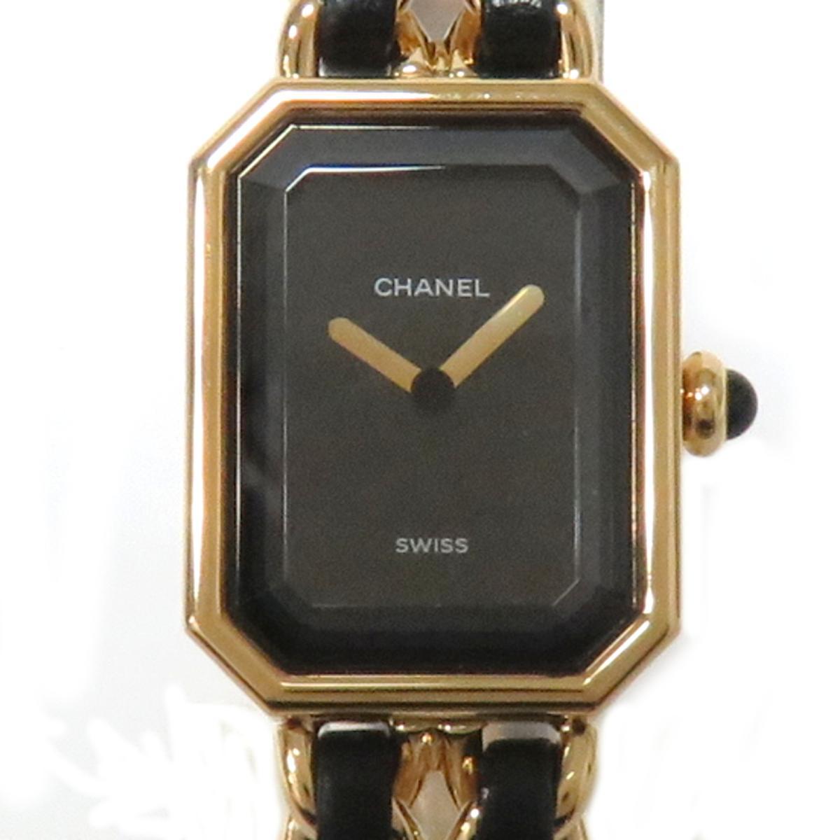 【中古】 シャネル プルミエールL レディース 腕時計 GP/レザー (H0001) | CHANEL BRANDOFF ブランドオフ ブランド ブランド時計 ブランド腕時計 時計 ウォッチ