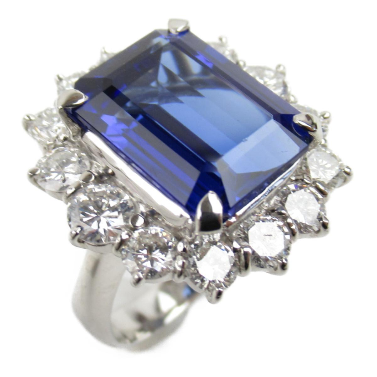 【中古】 ジュエリー タンザナイト ダイヤモンド リング 指輪 レディース PT900 プラチナ x タンザナイト10.35ct ダイヤモンド2.75ct | JEWELRY BRANDOFF ブランドオフ ブランド アクセサリー
