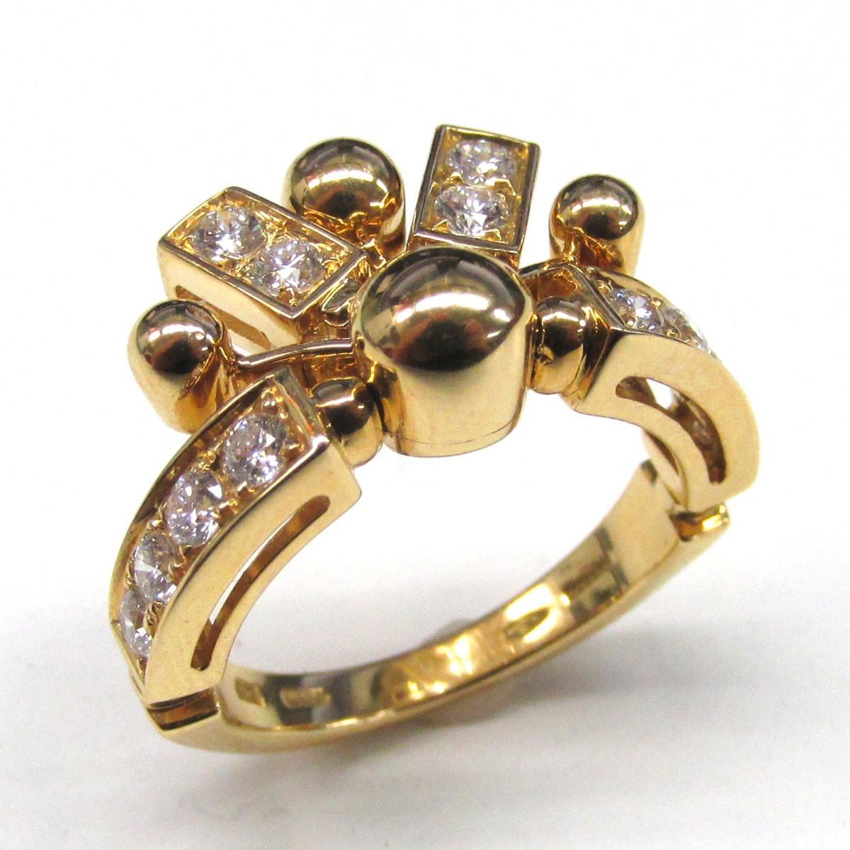 【中古】 ブルガリ アストラーレリング 指輪 レディース K18YG (750) イエローゴールド x ダイヤモンド | BVLGARI BRANDOFF ブランドオフ ブランド ジュエリー アクセサリー リング