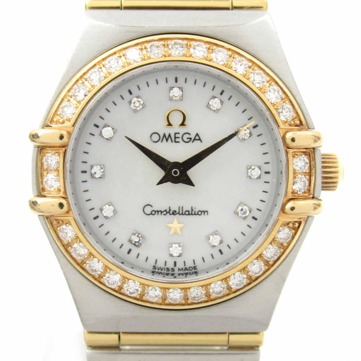 ≪期間限定≫メルマガ登録でクーポンGET! 【中古】 オメガ コンステレーション ミニ ダイヤベゼル   OMEGA BRANDOFF ブランドオフ レディース ブランド ブランド時計 ブランド腕時計 腕時計 時計 ウォッチ