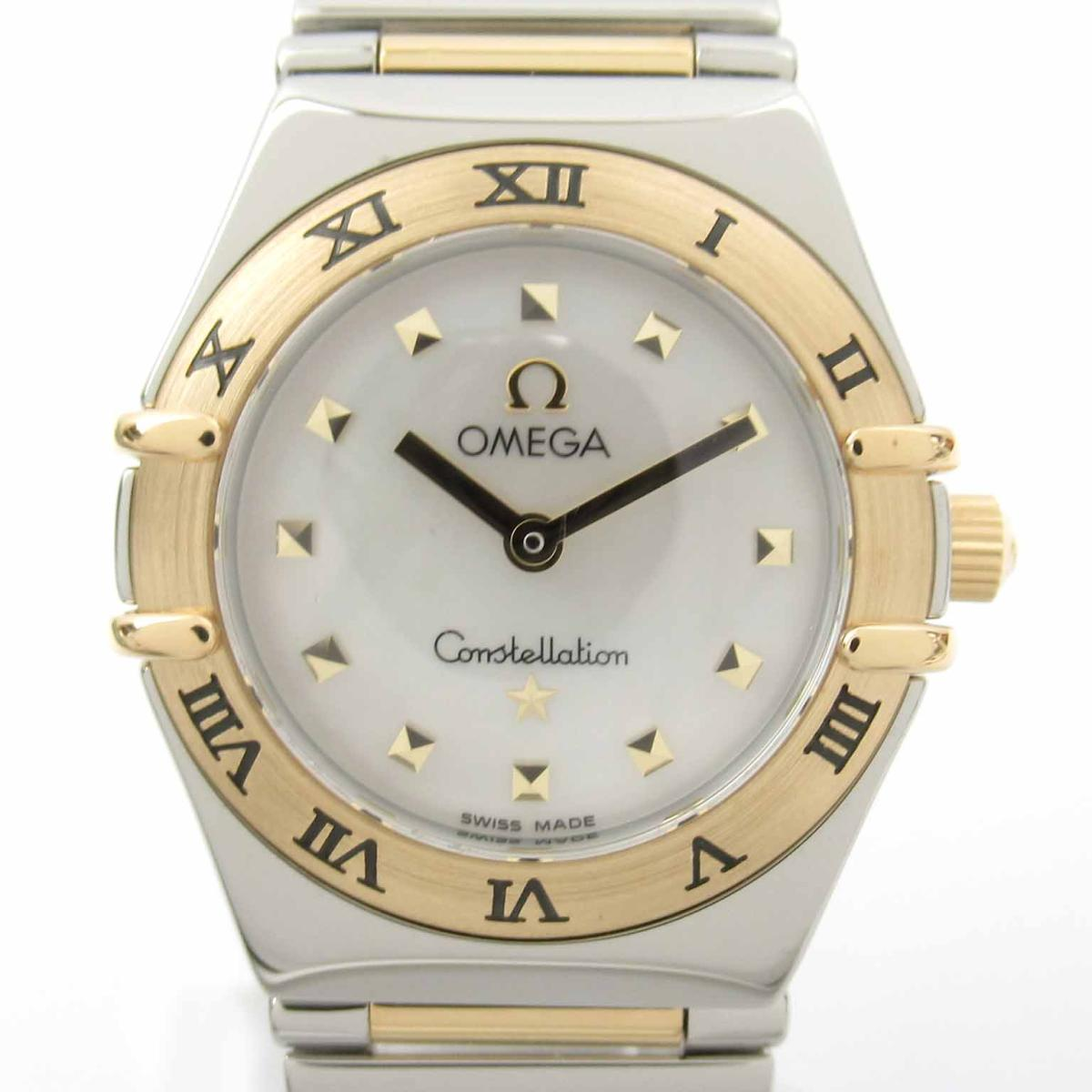≪期間限定≫メルマガ登録でクーポンGET! 【中古】 オメガ コンステレーション ウォッチ 腕時計 レディース K18YG (750)イエローゴールド ステンレススチール (SS)   OMEGA BRANDOFF ブランドオフ ブランド ブランド時計 ブランド腕時計 時計