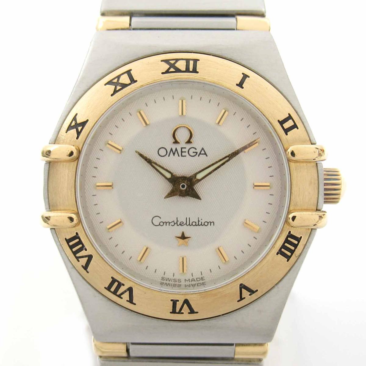 ≪期間限定≫メルマガ登録でクーポンGET! 【中古】 オメガ コンステレーション ミニ ウォッチ 腕時計 レディース K18YG (750)イエローゴールド ステンレススチール (SS) (1372.30) | OMEGA BRANDOFF ブランドオフ ブランド ブランド時計 ブランド腕時計 時計