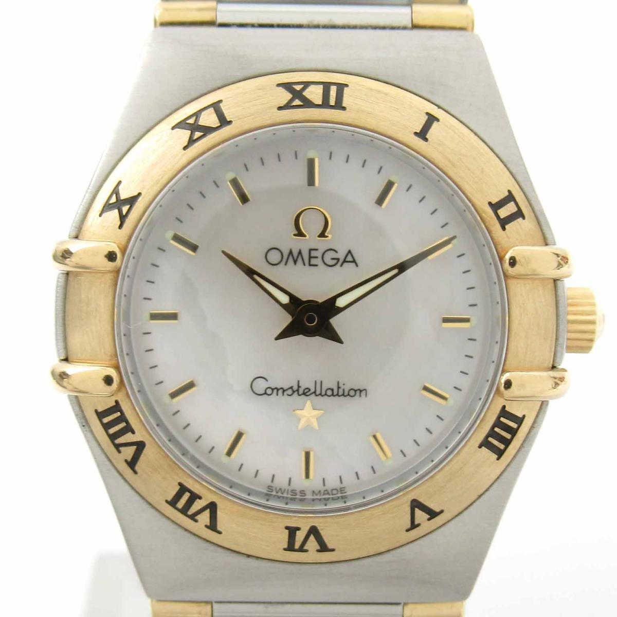 ≪期間限定≫メルマガ登録でクーポンGET! 【中古】 オメガ コンステレーション ウォッチ 腕時計 レディース K18YG (750)イエローゴールド ステンレススチール (SS) (1262.70) | OMEGA BRANDOFF ブランドオフ ブランド ブランド時計 ブランド腕時計 時計
