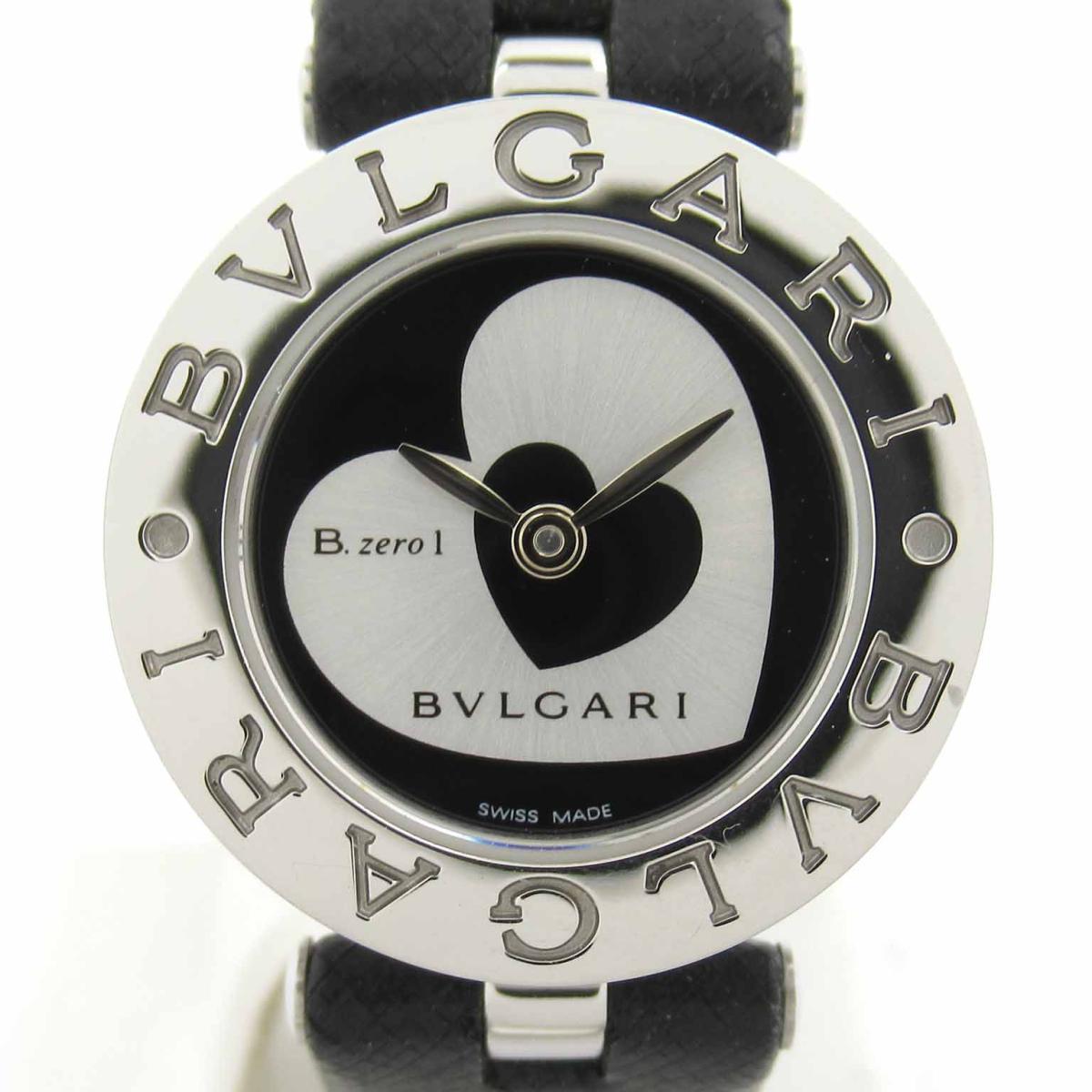 ≪期間限定≫メルマガ登録でクーポンGET! 【中古】 ブルガリ B-zero1 ダブルハート ウォッチ 腕時計 レディース ステンレススチール (SS) レザーベルト (BZ22S) | BVLGARI BRANDOFF ブランドオフ ブランド ブランド時計 ブランド腕時計 時計
