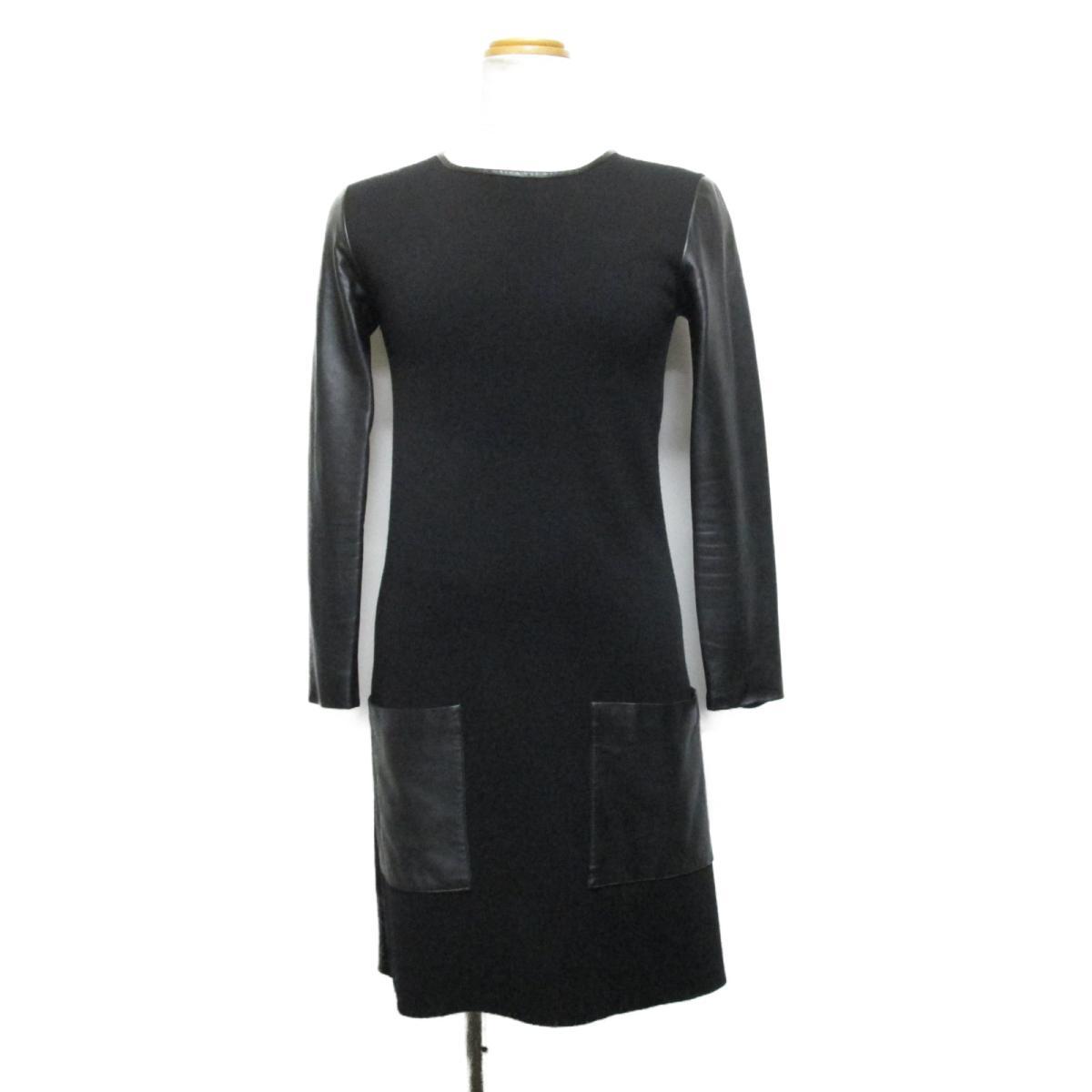 【中古】 クリスチャン・ディオール ワンピース レディース ウール/トリミング:ラムスキン ブラック | Dior BRANDOFF ブランドオフ 衣料品 衣類 ブランド