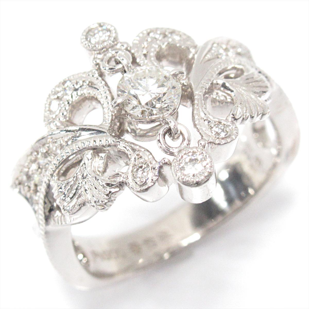 【中古】 ジュエリー 華宝流 ダイヤモンドリング 指輪 レディース PT900 プラチナ x ダイヤモンド (0.31/0.18ct) | JEWELRY BRANDOFF ブランドオフ ブランド アクセサリー リング