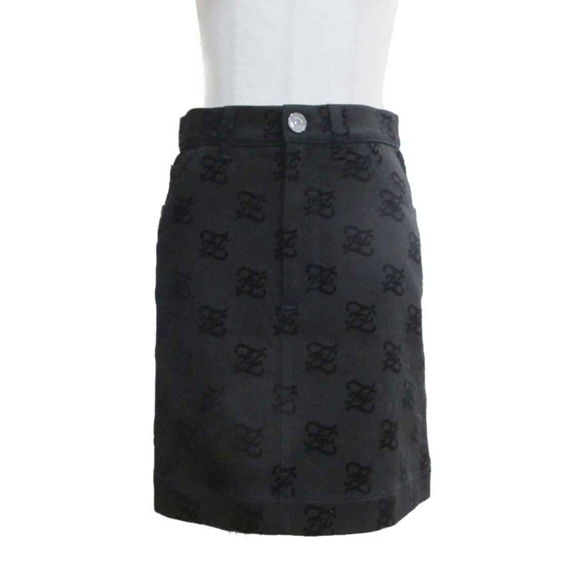 【中古】 フェンディ スカート レディース コットン98% x ポリウレタン2% ブラック ネイビー | FENDI BRANDOFF ブランドオフ 衣料品 衣類 ブランド ボトムス