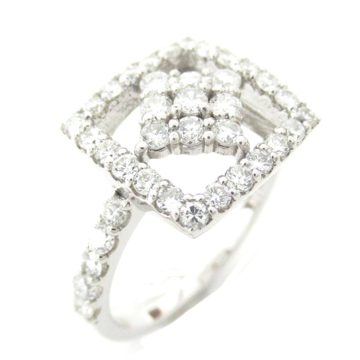 【中古】 ジュエリー ダイヤモンド リング 指輪 レディース K18WG (750) ホワイトゴールド x ダイヤモンド0.75ct | JEWELRY BRANDOFF ブランドオフ ブランド アクセサリー