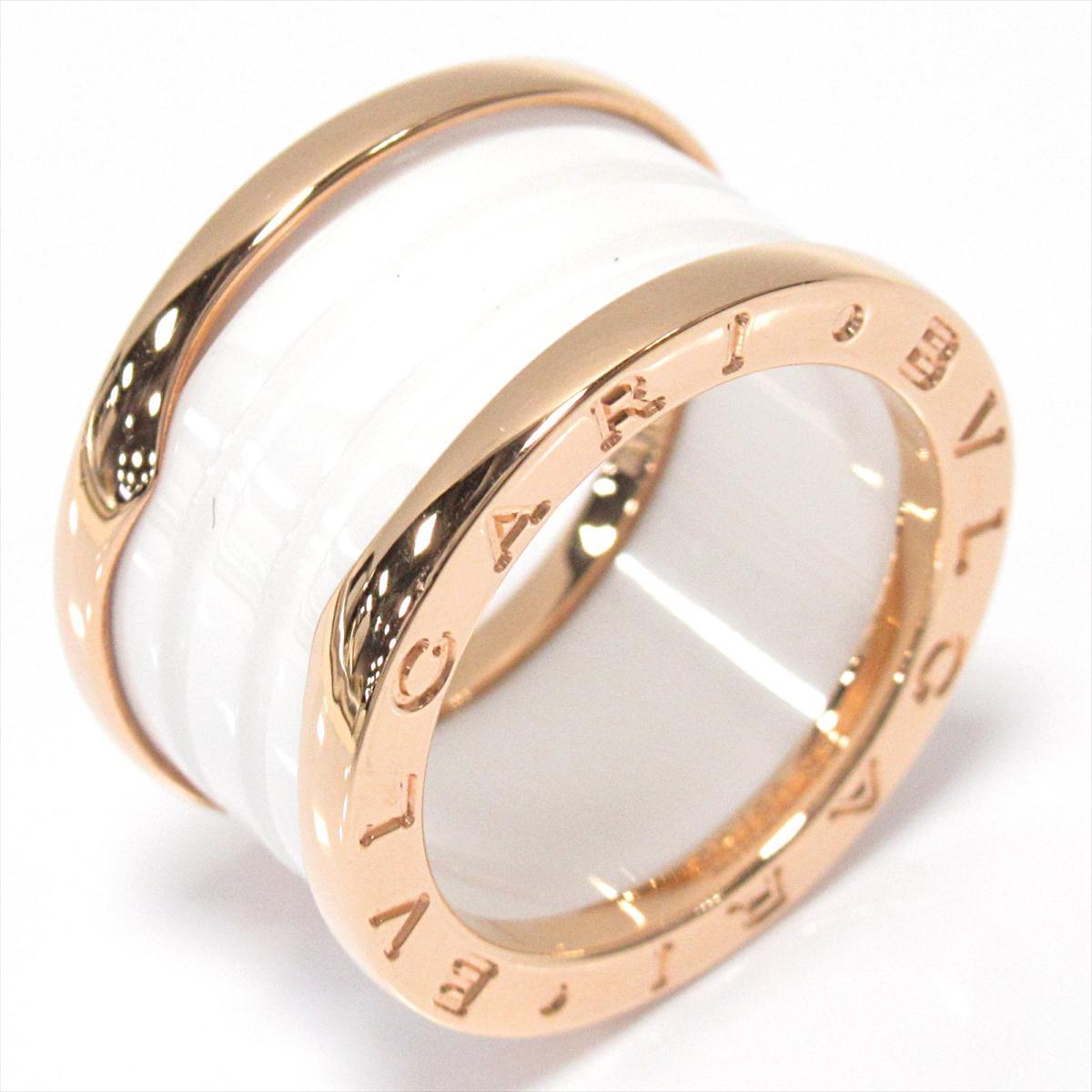 【中古】 ブルガリ B-zero1 ビーゼロワンリング 指輪 メンズ レディース K18PG (750) ピンクゴールド x セラミック | BVLGARI BRANDOFF ブランドオフ ブランド ジュエリー アクセサリー リング