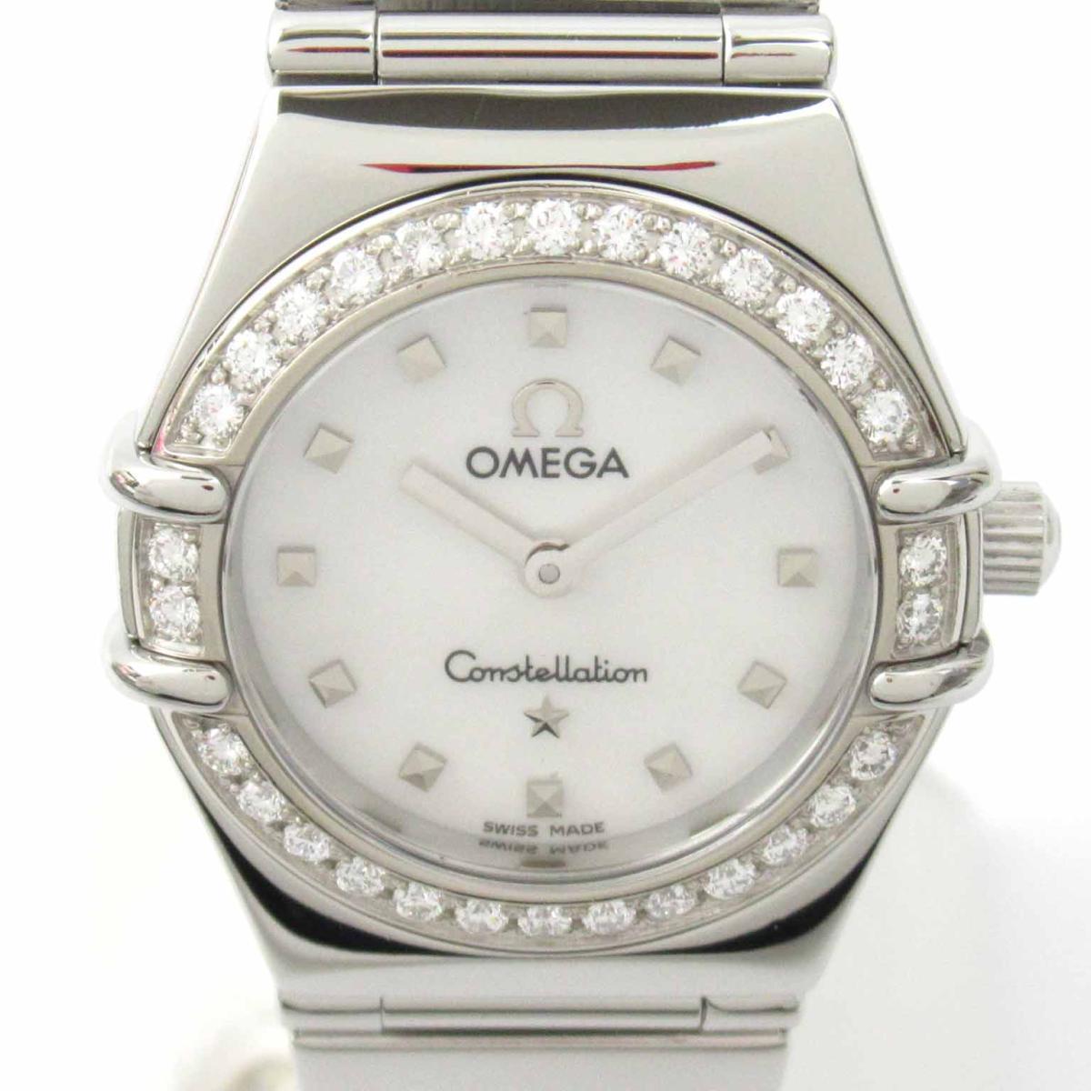 【中古】 オメガ コンステレーション ミニ ダイヤベゼル ウォッチ 腕時計 レディース ステンレススチール (SS) | OMEGA BRANDOFF ブランドオフ ブランド ブランド時計 ブランド腕時計 時計
