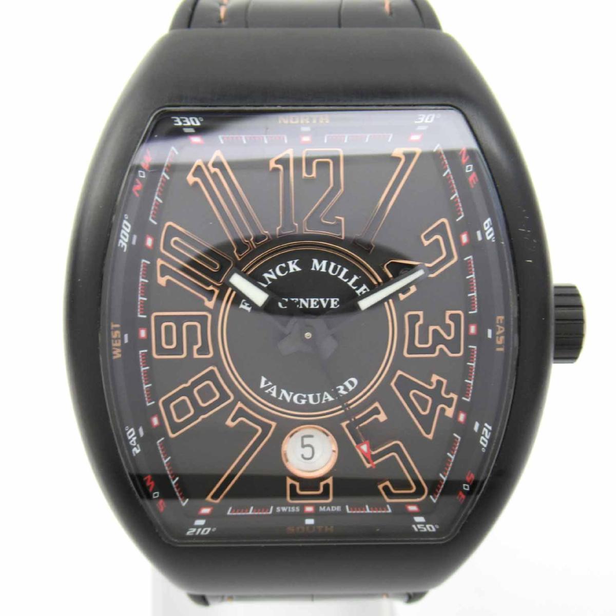 【中古】 フランク・ミュラー ヴァンガード ウォッチ 腕時計 メンズ PVD レザーベルト (V41SCDT TTNRBR5N) | FRANCK MULLER BRANDOFF ブランドオフ ブランド ブランド時計 ブランド腕時計 時計
