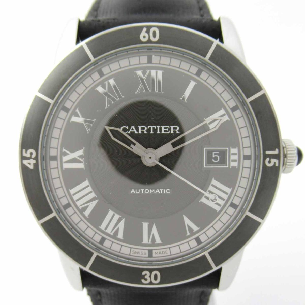 【中古】 カルティエ ロンド クロワジュール ウォッチ 腕時計 メンズ ステンレススチール (SS) レザーベルト | Cartier BRANDOFF ブランドオフ ブランド ブランド時計 ブランド腕時計 時計