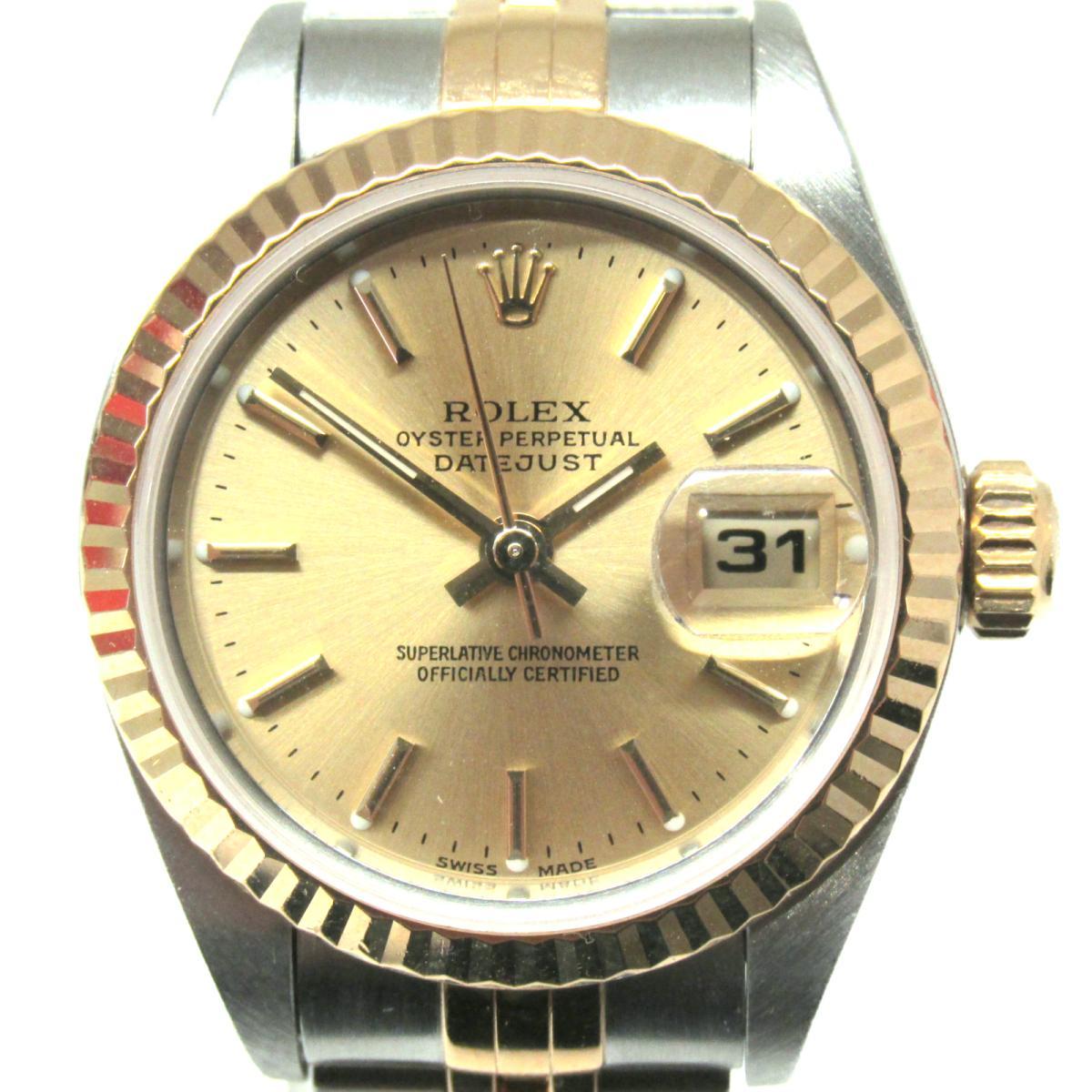 【中古】 ロレックス デイトジャスト 腕時計 ウォッチ レディース K18YG (750)イエローゴールド SS (79173)   ROLEX BRANDOFF ブランドオフ メンズ ブランド ブランド時計 ブランド腕時計 時計