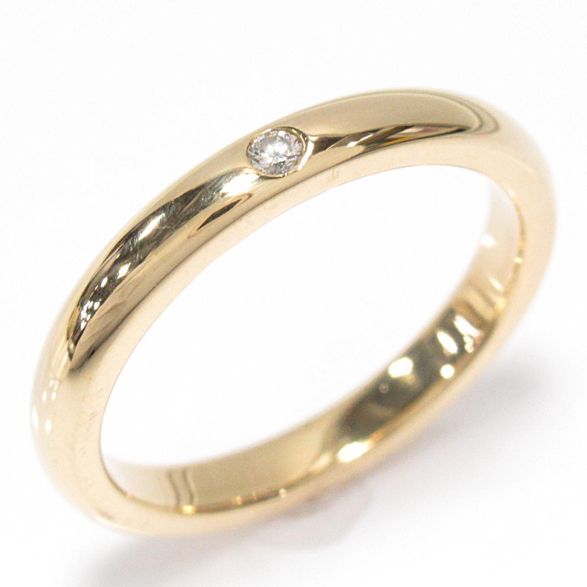 【中古】 ティファニー バンドリング 指輪 メンズ レディース K18YG (750) イエローゴールド x ダイヤモンド (1P)   TIFFANY&CO BRANDOFF ブランドオフ ブランド ジュエリー アクセサリー リング