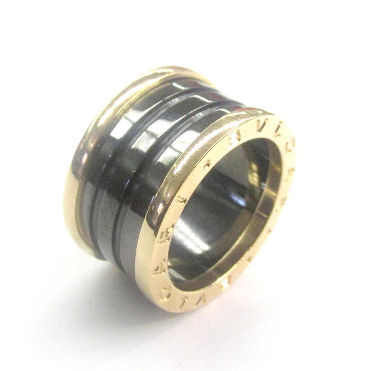 【中古】 ブルガリ B-zero1 リング メンズ レディース K18PG (750) ピンクゴールド x セラミック | BVLGARI BRANDOFF ブランドオフ ブランド ジュエリー アクセサリー 指輪