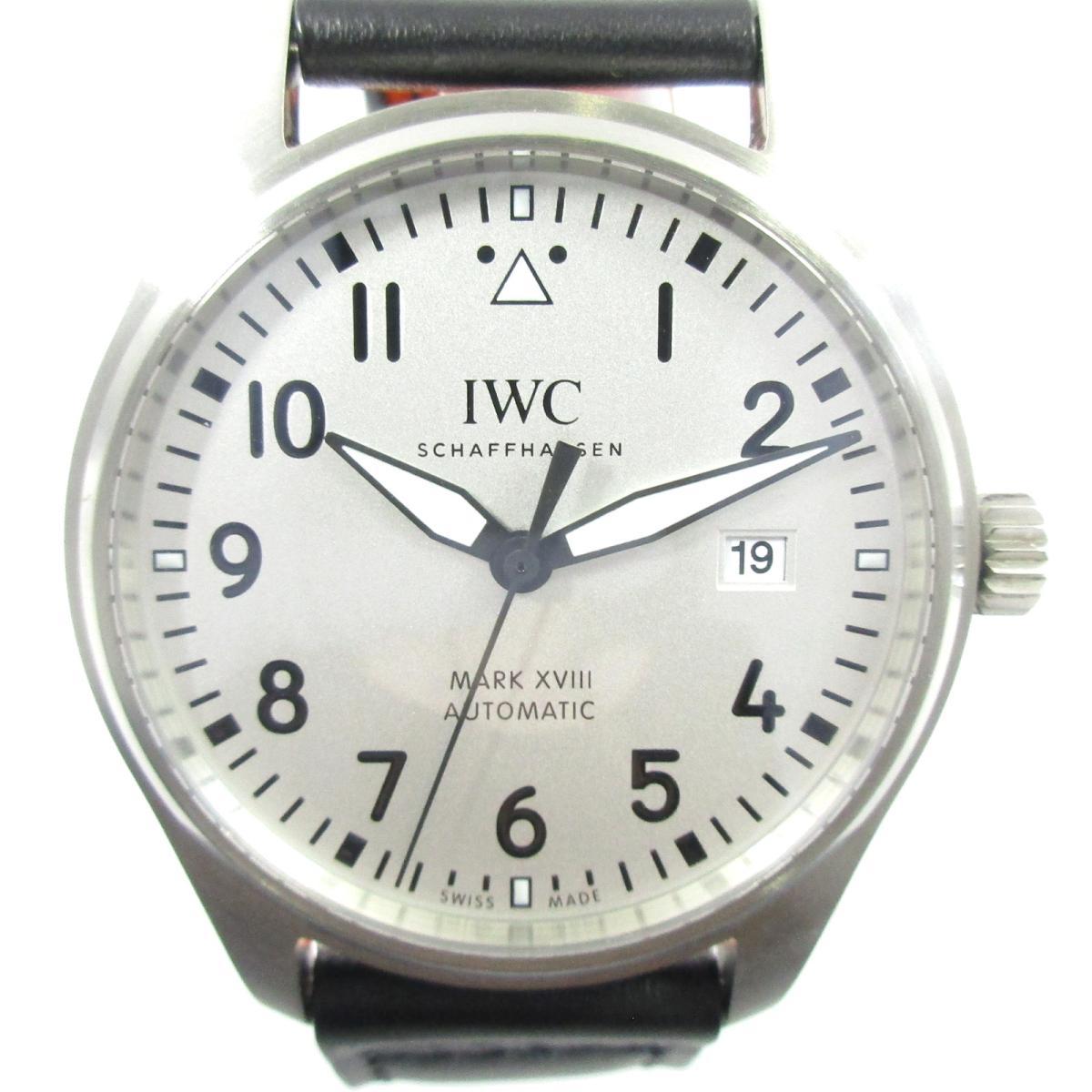 【中古】 インターナショナル・ウォッチ・カンパニー マーク XVIII 腕時計 メンズ ステンレススチール (SS) レザー シルバー ブラック オレンジ (IW327012) | IWC BRANDOFF ブランドオフ ブランド ブランド時計 ブランド腕時計