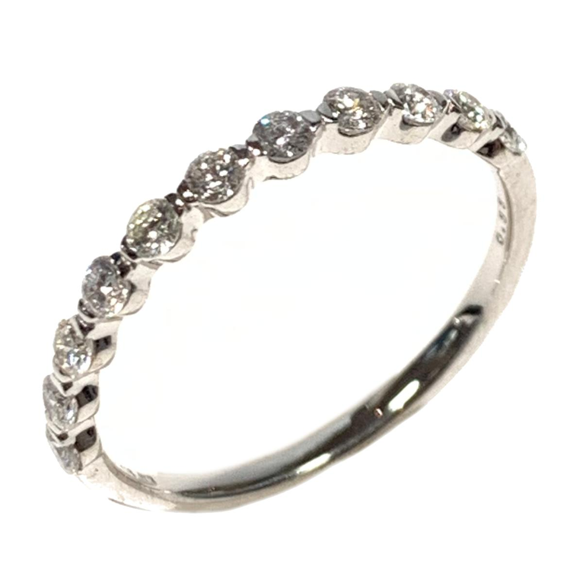 【中古】 ジュエリー ダイヤモンド 指輪 リング レディース K18WG (750) ホワイトゴールド シルバー | JEWELRY BRANDOFF ブランドオフ ブランド アクセサリー