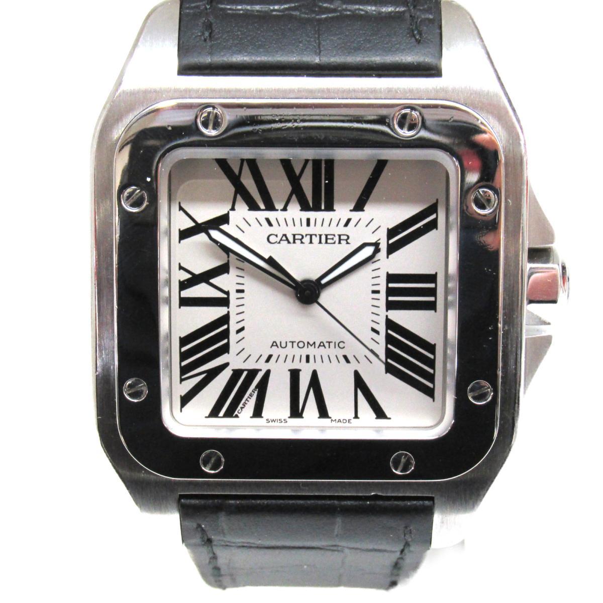 ≪期間限定≫メルマガ登録でクーポンGET! 【中古】 カルティエ サントス 100 腕時計 ウォッチ メンズ ステンレススチール (SS) レザーベルト (W20076 8) | Cartier BRANDOFF ブランドオフ ブランド ブランド時計 ブランド腕時計 時計