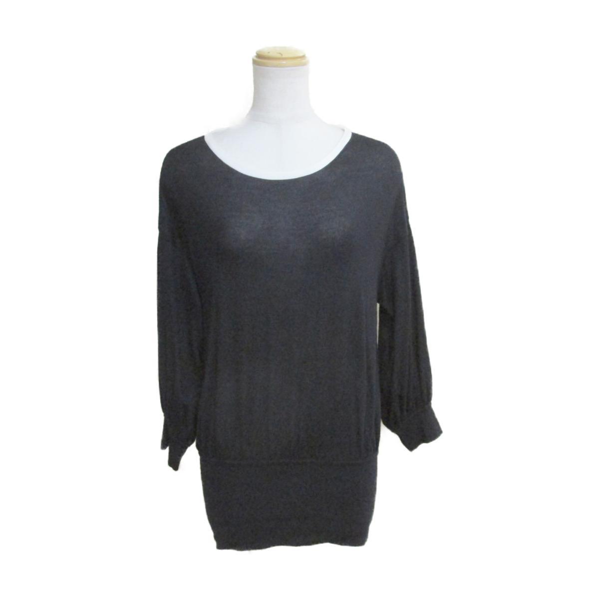 【中古】 シャネル ニット レディース カシミヤ100% ブラック x ホワイト (P42967K04362) | CHANEL BRANDOFF ブランドオフ 衣料品 衣類 ブランド