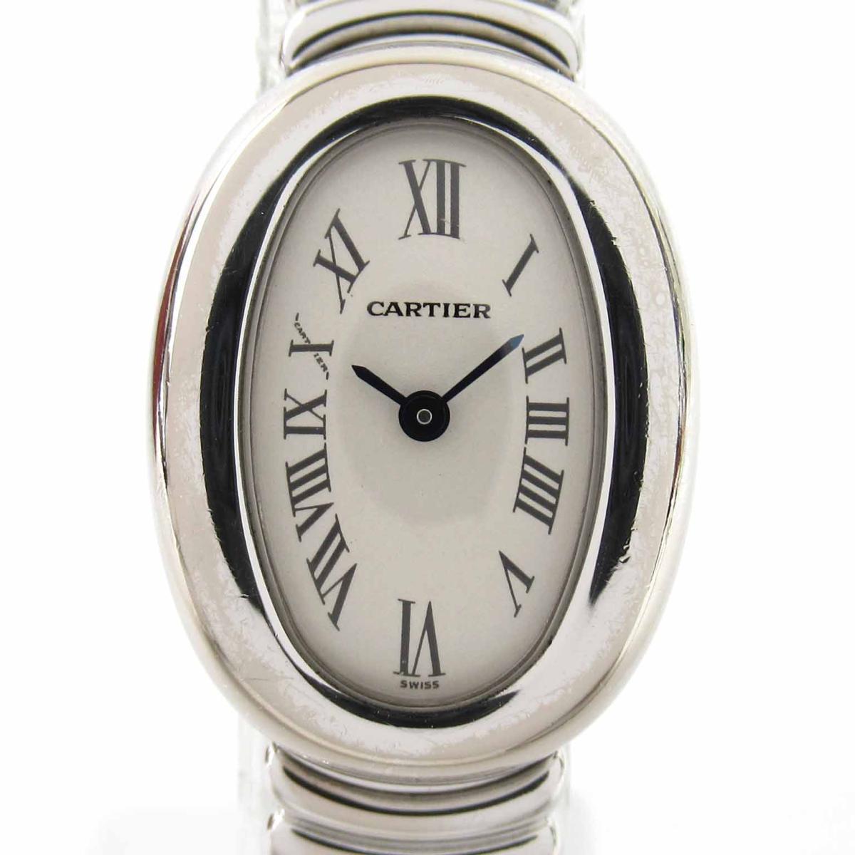 ≪期間限定≫メルマガ登録でクーポンGET! 【中古】 カルティエ ミニべニュワール ウォッチ 腕時計 レディース K18WG (750)ホワイトゴールド (2369) | Cartier BRANDOFF ブランドオフ ブランド ブランド時計 ブランド腕時計 時計