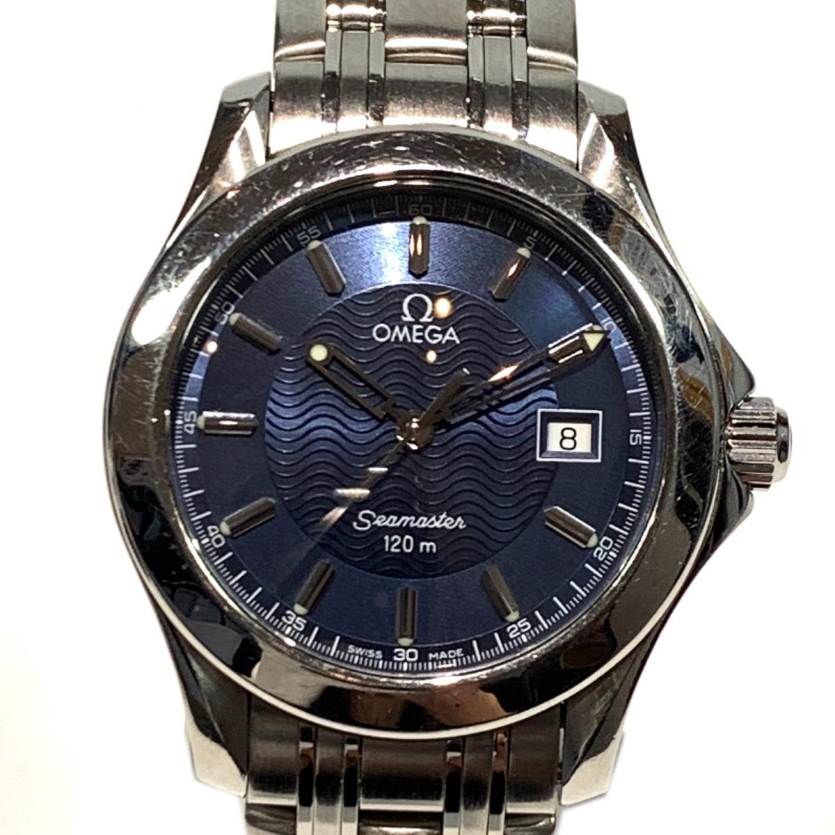 【中古】オメガ シーマスター120 腕統計 ウォッチ メンズ ステンレススチール (SS) シルバー x ネイビー (2511.81) | OMEGA BRANDOFF ブランドオフ ブランド ブランド時計 ブランド腕時計 腕時計 時計