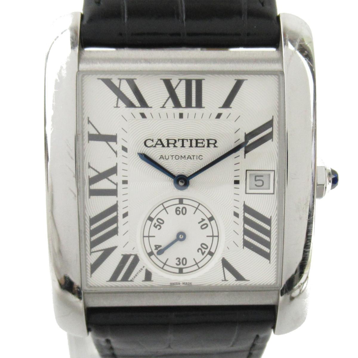 ≪期間限定≫メルマガ登録でクーポンGET! 【中古】 カルティエ タンクMC ウォッチ 腕時計 メンズ ステンレススチール (SS) クロコレザーベルト (W5330003)   Cartier BRANDOFF ブランドオフ ブランド ブランド時計 ブランド腕時計 時計