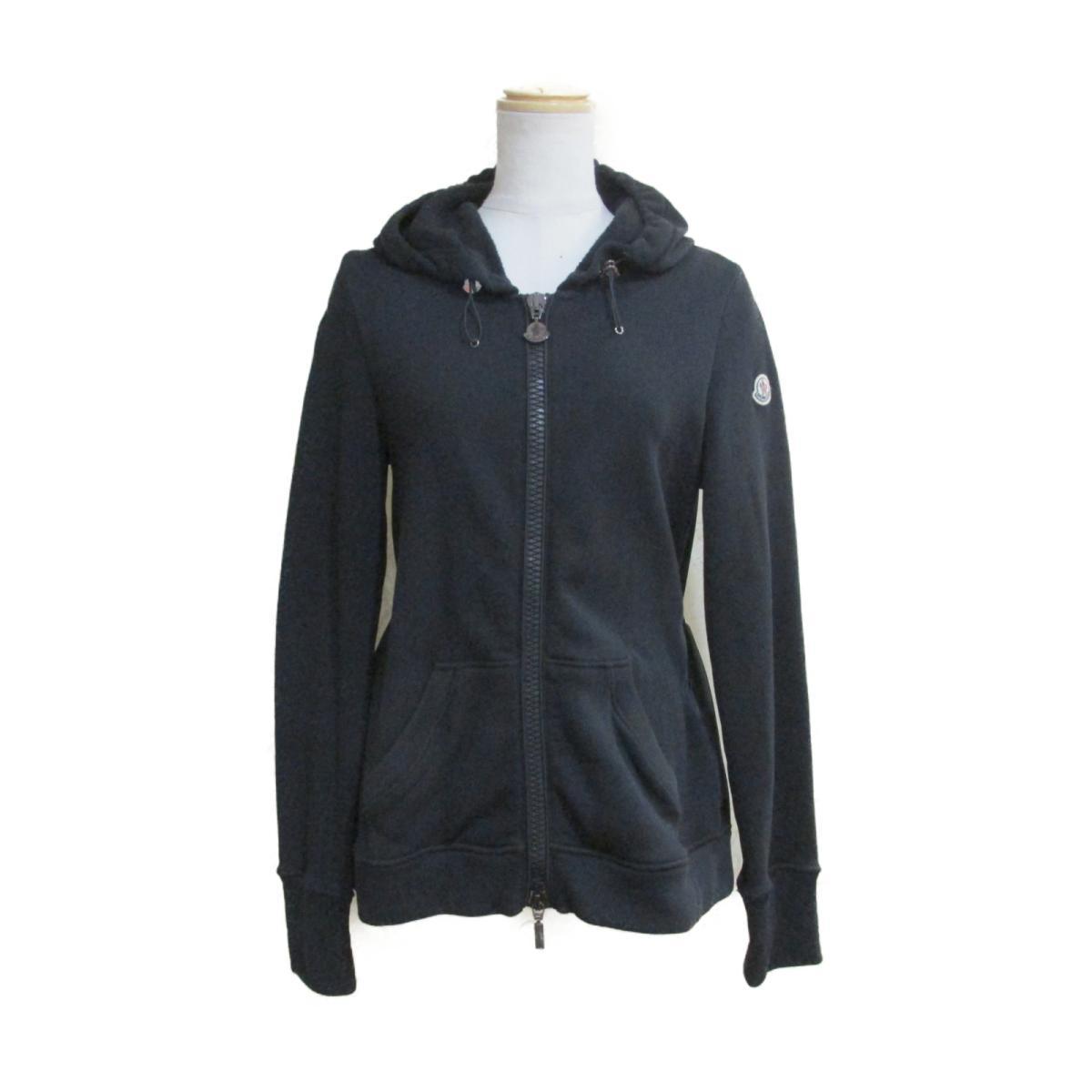 【中古】 モンクレール パーカー ジャケット レディース ナイロン100% コットン100% ブラック | MONCLER BRANDOFF ブランドオフ 衣料品 衣類 ブランド トップス