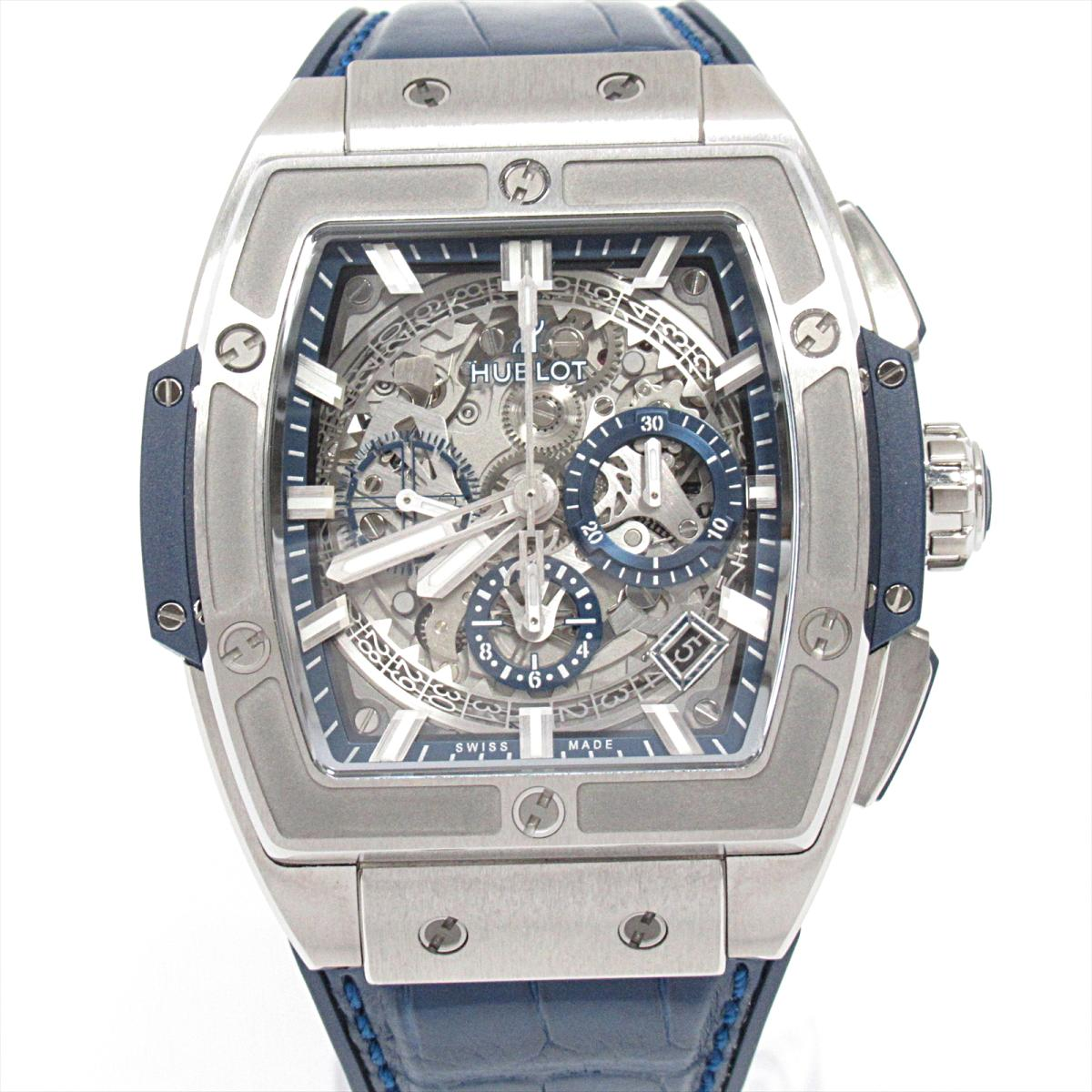 【中古】 ウブロ スピリット オブ ビッグバン 腕時計 ウォッチ メンズ チタニウム ラバーベルト (アリゲーター) (641.N .7170.LR)   HUBLOT BRANDOFF ブランドオフ ブランド ブランド時計 ブランド腕時計 時計