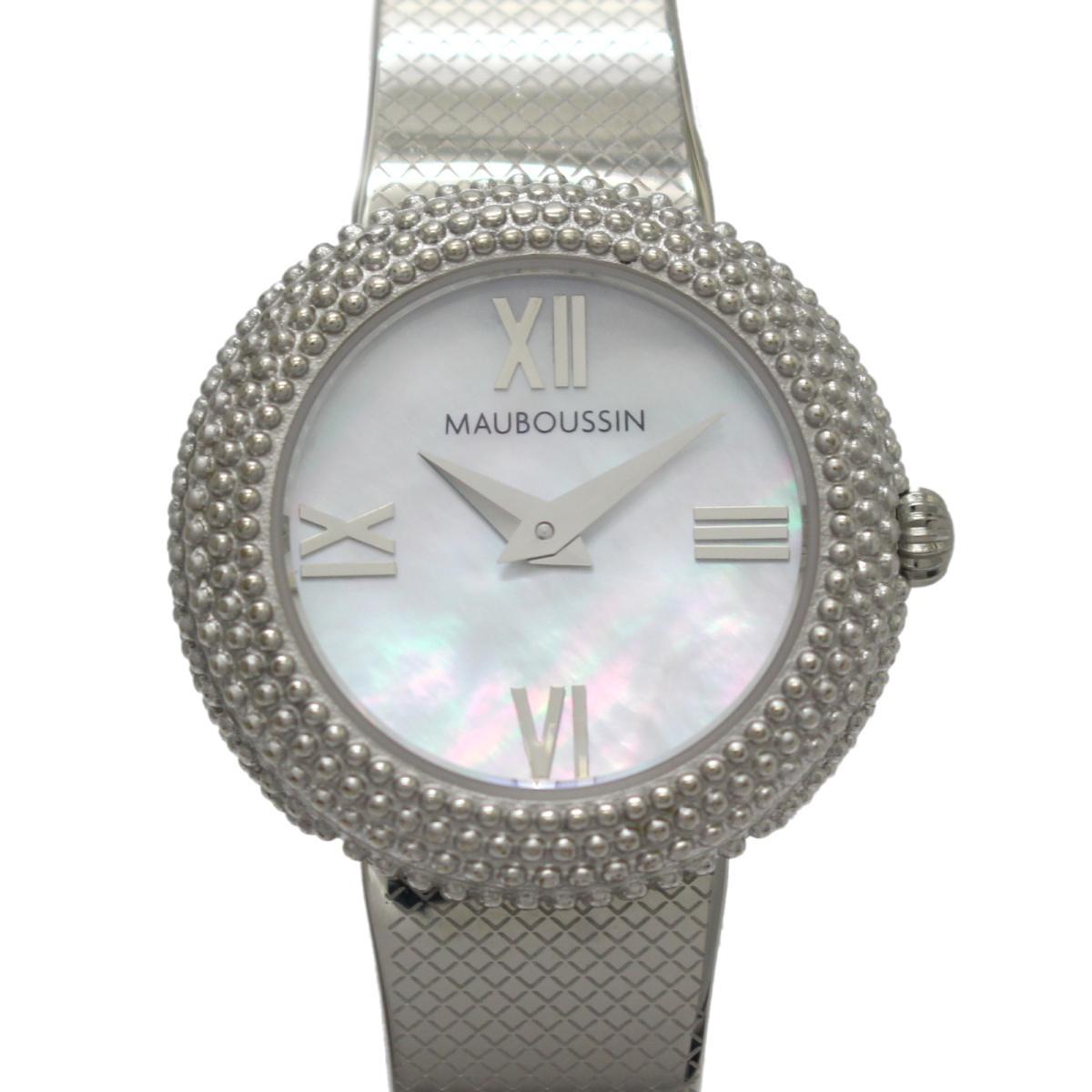 【中古】 セレクション MAUBOUSSIN ルールドゥプルミエジュールSS レディース ステンレススチール (SS) マザーオブパール (9236100-900)   SELECTION BRANDOFF ブランドオフ ブランド ブランド時計 ブランド腕時計 腕時計 時計