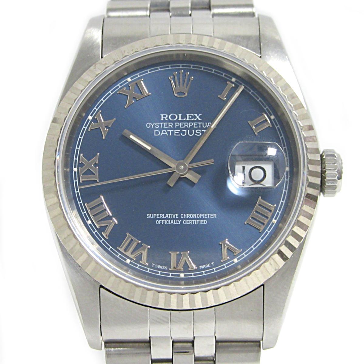 【中古】 ロレックス デイトジャスト 腕時計 ウォッチ メンズ ステンレススチール (SS) K18WG (750)ホワイトゴールド (16234) | ROLEX BRANDOFF ブランドオフ ブランド ブランド時計 ブランド腕時計 時計