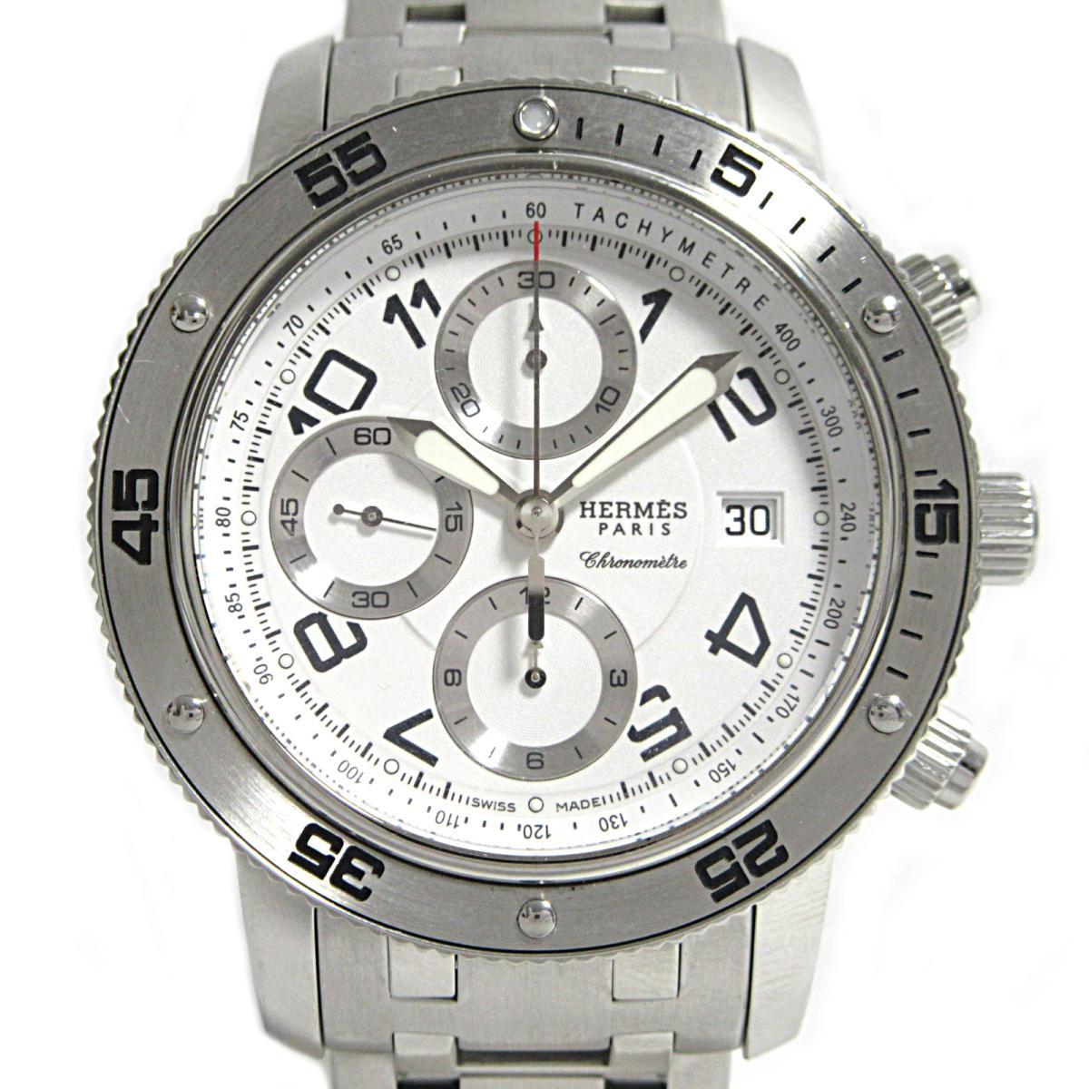 ≪期間限定≫メルマガ登録でクーポンGET! 【中古】 エルメス クリッパークロノグラフ メカニカルダイバーズ 腕時計 メンズ ウォッチ ステンレススチール (SS) (CP2.910) | HERMES BRANDOFF ブランドオフ ブランド ブランド時計 ブランド腕時計 時計