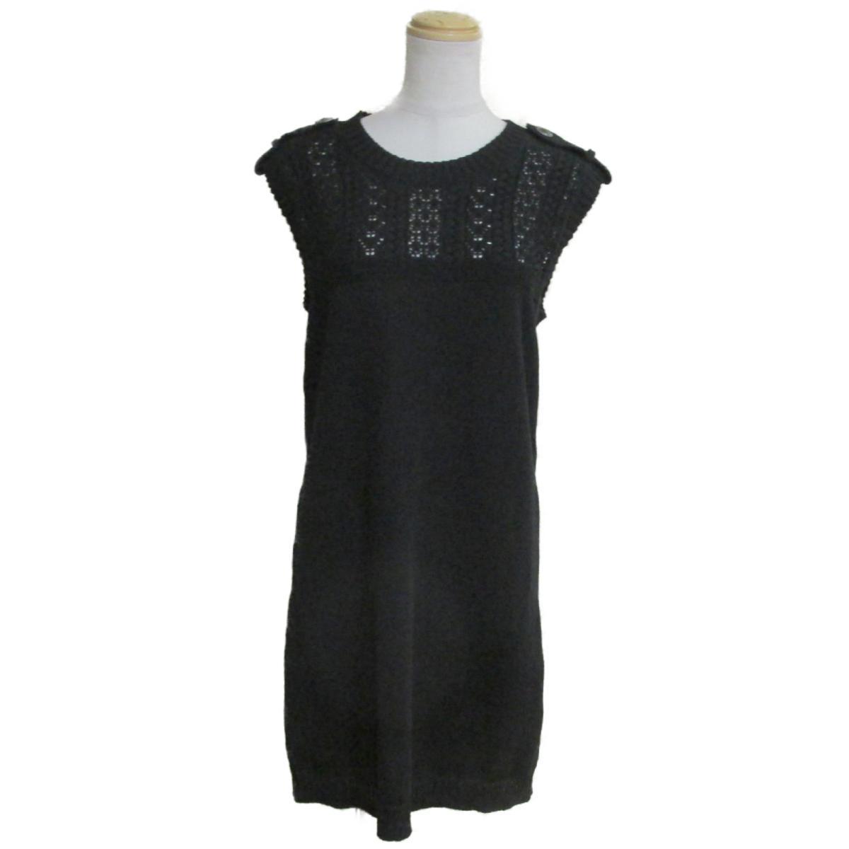 【中古】 シャネル ニットワンピース レディース コットン100% ブラック (P53710K06995) | CHANEL BRANDOFF ブランドオフ 衣料品 衣類 ブランド ワンピース