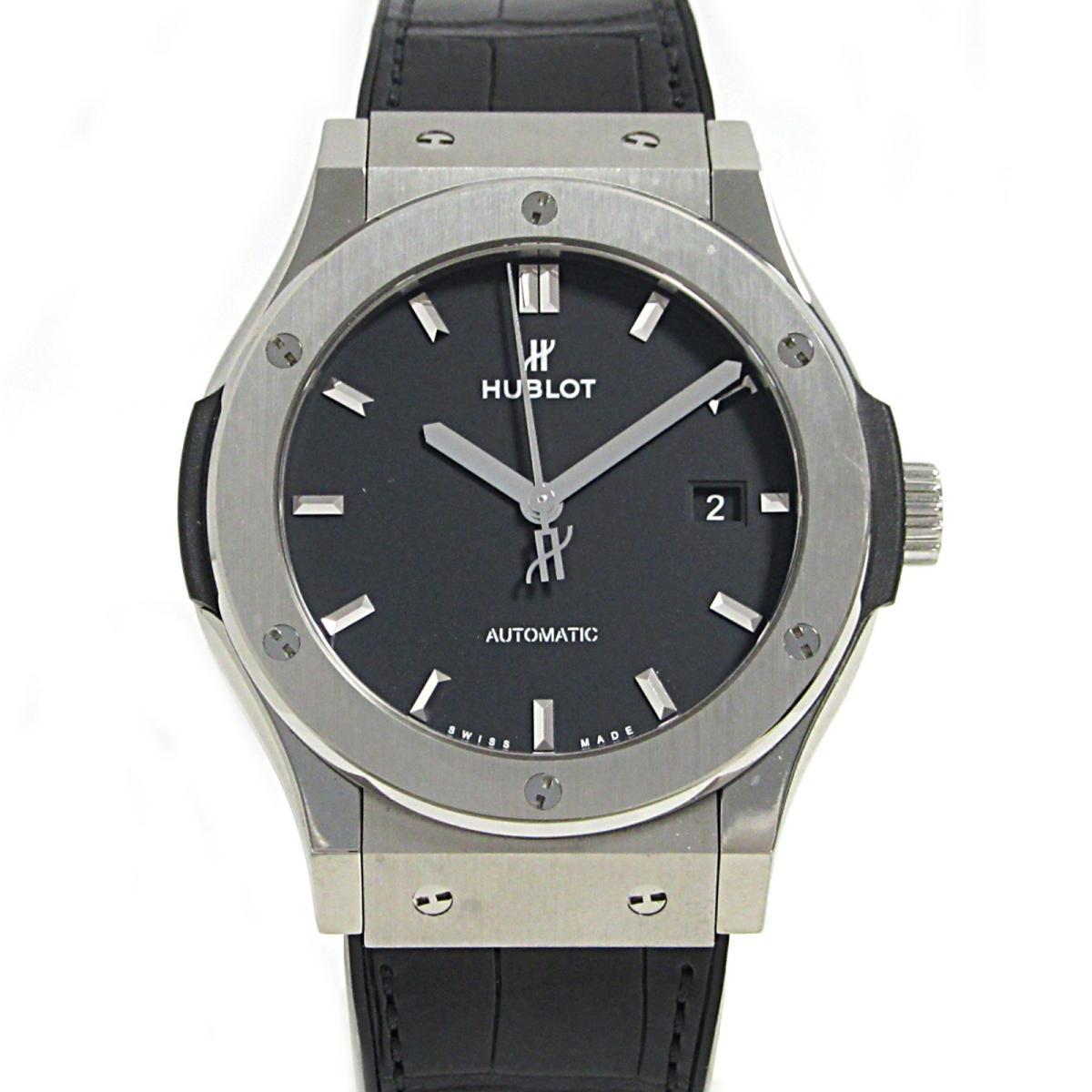 【中古】 ウブロ クラシックフュージョン チタニウム 腕時計 ウォッチ メンズ ラバー ブラック シルバー (542.NX.1171.RX) | HUBLOT BRANDOFF ブランドオフ ブランド ブランド時計 ブランド腕時計 時計