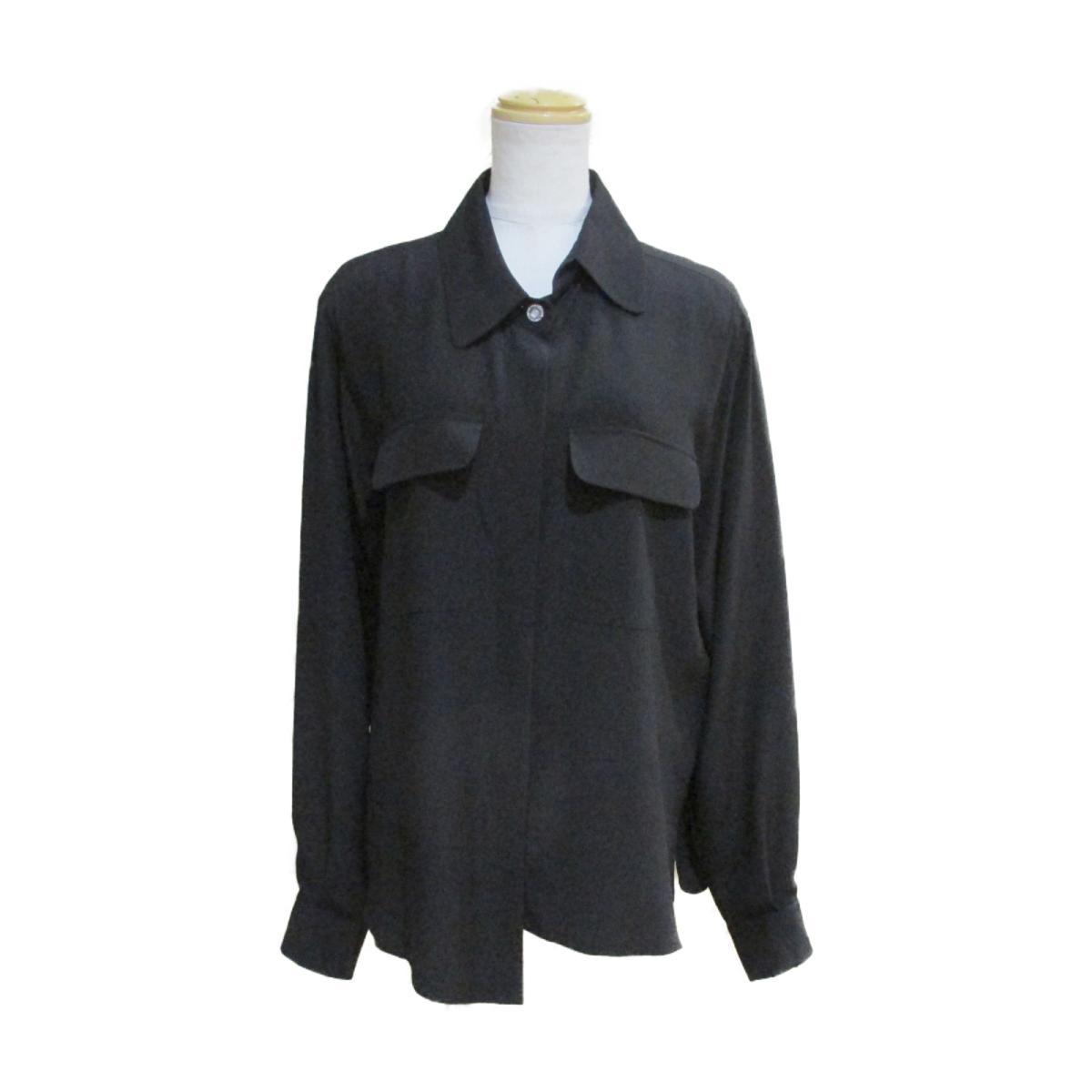 【中古】 シャネル ブラウス レディース シルク100% ブラック | CHANEL BRANDOFF ブランドオフ 衣料品 衣類 ブランド トップス シャツ