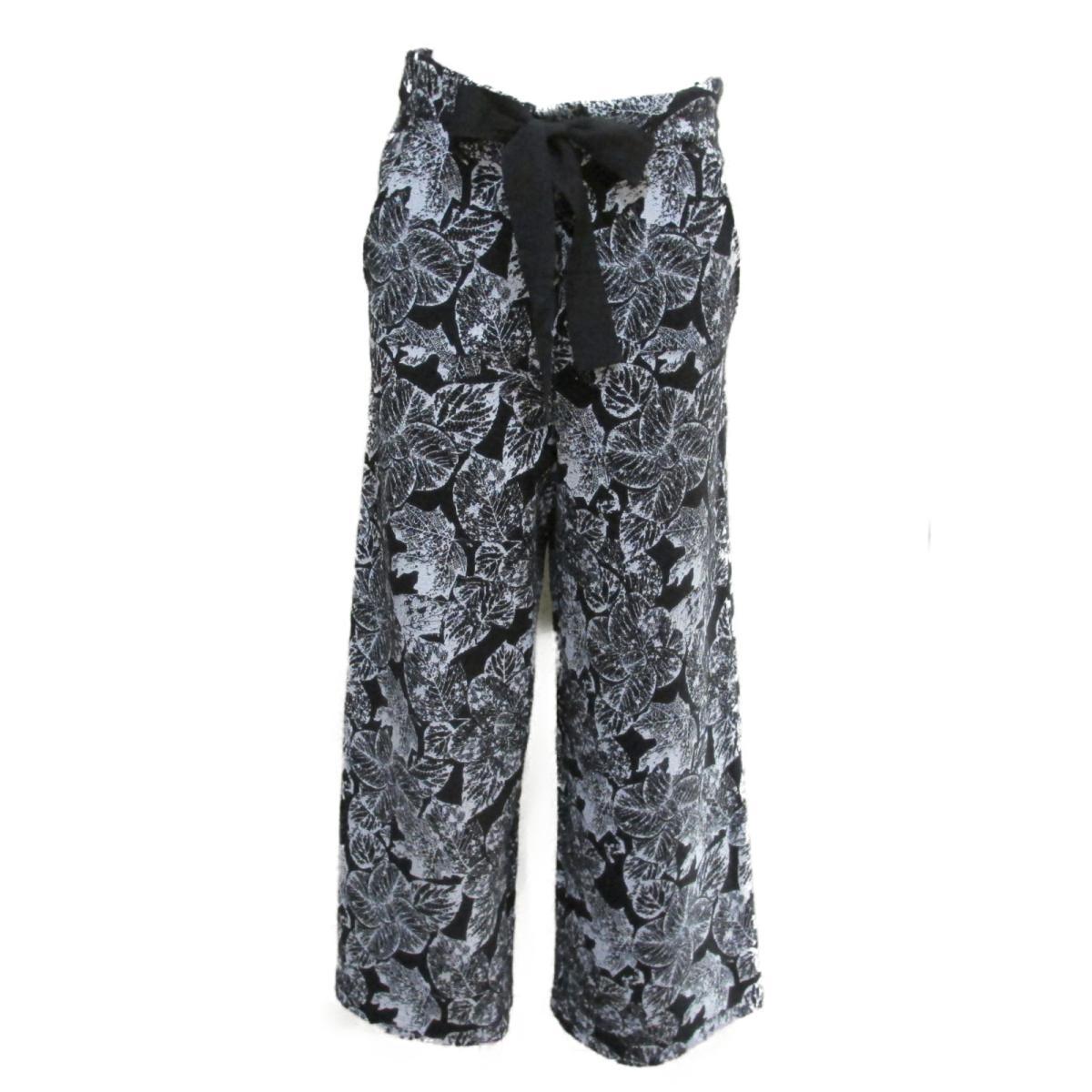【中古】 シャネル パンツ レディース コットン100% ブラック ホワイト (P60207K07863) | CHANEL BRANDOFF ブランドオフ 衣料品 衣類 ブランド ボトムス
