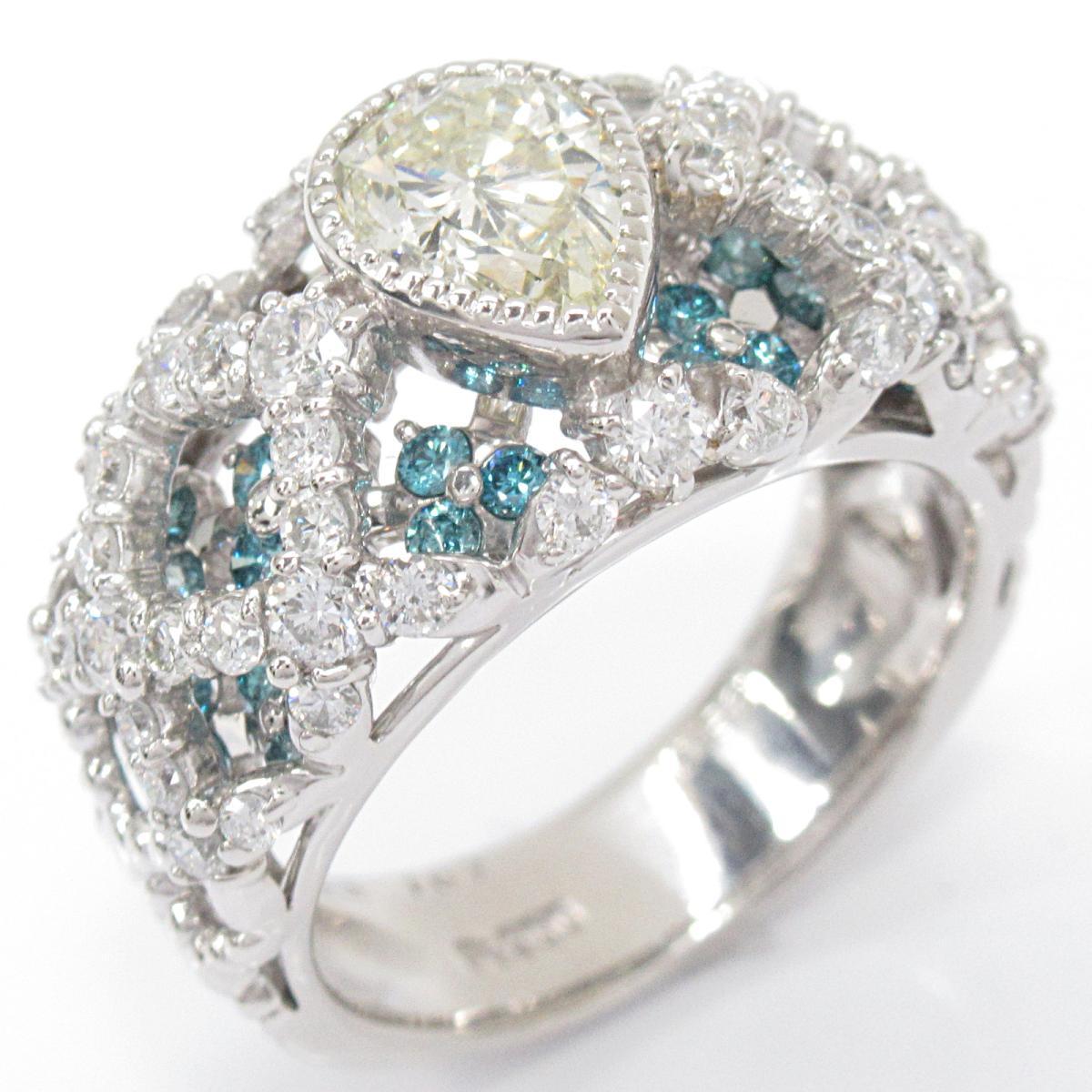 【中古】ジュエリー ダイヤモンドリング 指輪 レディース PT900 プラチナ x ダイヤモンド (1.043/1.07/0.63ct) | JEWELRY BRANDOFF ブランドオフ ブランド ジュエリー アクセサリー リング