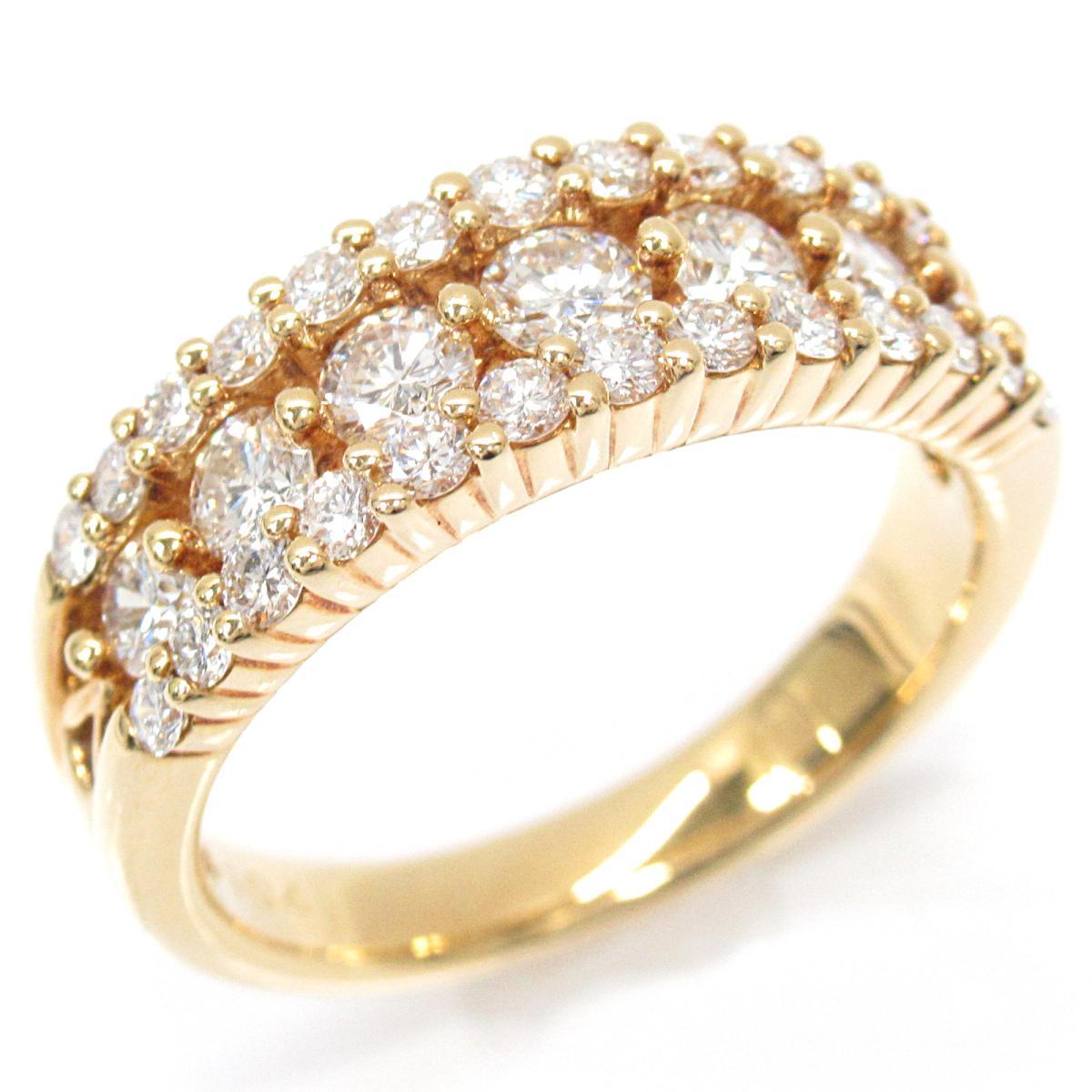 【中古】 ジュエリー ダイヤモンドリング 指輪 レディース K18YG (750) イエローゴールド x ダイヤモンド (1.04ct) | JEWELRY BRANDOFF ブランドオフ ブランド アクセサリー リング