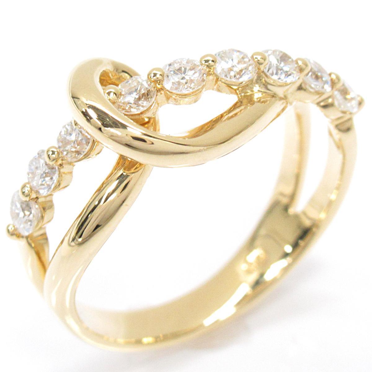 【中古】 ジュエリー ダイヤモンドリング 指輪 レディース K18YG (750) イエローゴールド x ダイヤモンド (0.50ct) | JEWELRY BRANDOFF ブランドオフ ブランド アクセサリー リング