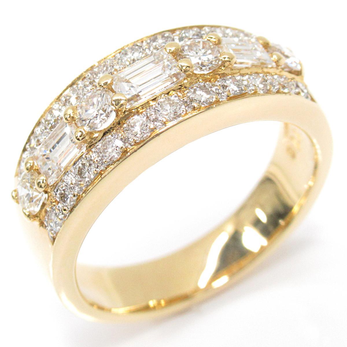 【中古】 ジュエリー ダイヤモンドリング 指輪 レディース K18YG (750) イエローゴールド x ダイヤモンド (1.16ct)   JEWELRY BRANDOFF ブランドオフ ブランド アクセサリー リング